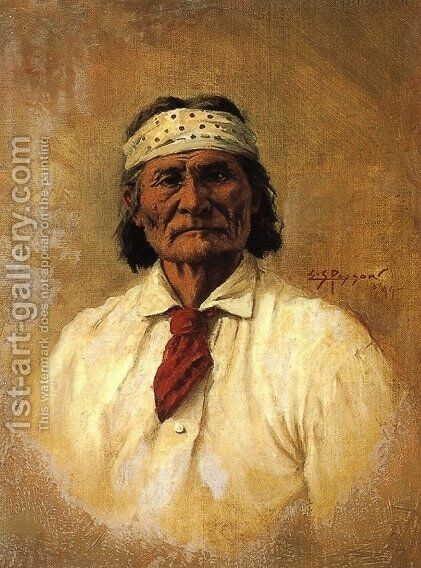 Geronimo by Edgar Samuel Paxson - Reproduction Oil Painting