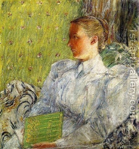 Edith Blaney (Mrs. Dwight Blaney) by Frederick Childe Hassam - Reproduction Oil Painting