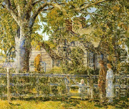 Old Mumford House, Easthampton by Frederick Childe Hassam - Reproduction Oil Painting