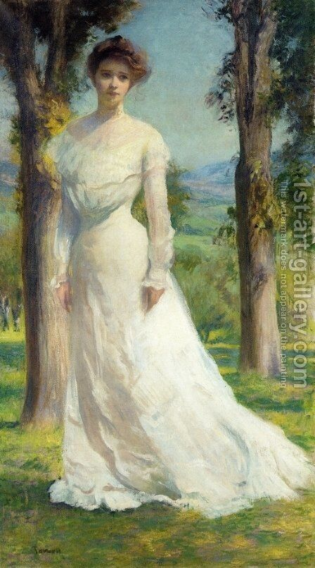 Margaret Under the Elms by Edmund Charles Tarbell - Reproduction Oil Painting