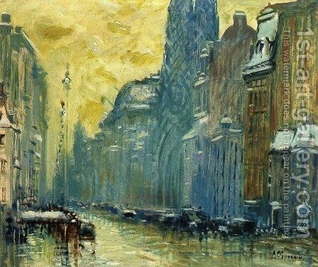 Fifth Avenue I by Arthur C. Goodwin - Reproduction Oil Painting