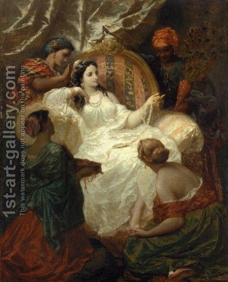 The Dressing of the Favorite by Henri Pierre Picou - Reproduction Oil Painting