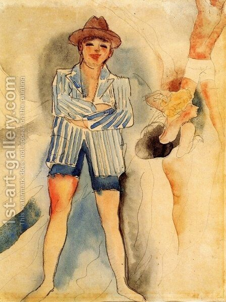 Mann in Blazer by Charles Demuth - Reproduction Oil Painting