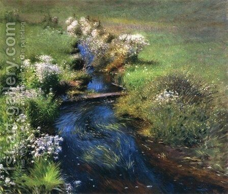 Wild Asters by Dennis Miller Bunker - Reproduction Oil Painting