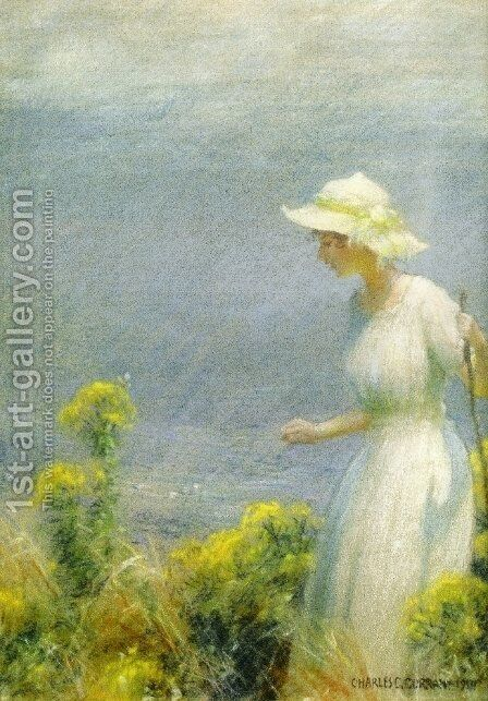 A Summer Walk by Charles Curran - Reproduction Oil Painting