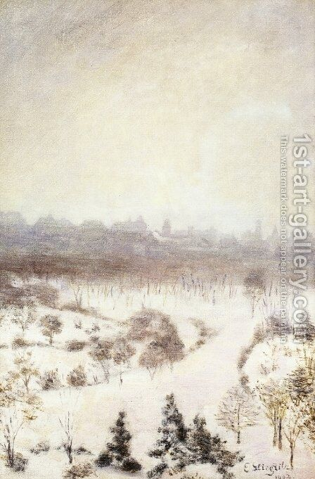 Central Park by Edward Stieglitz - Reproduction Oil Painting