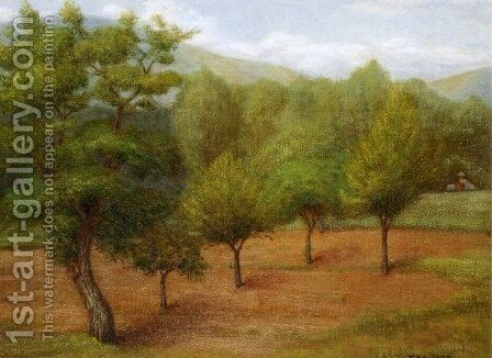 Spring Landscape by Edward Stieglitz - Reproduction Oil Painting