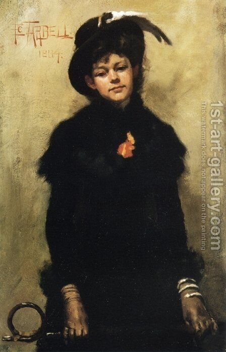 Portrait of Miss McKay by Edmund Charles Tarbell - Reproduction Oil Painting