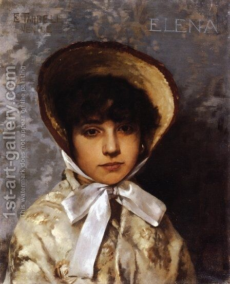 Elena by Edmund Charles Tarbell - Reproduction Oil Painting