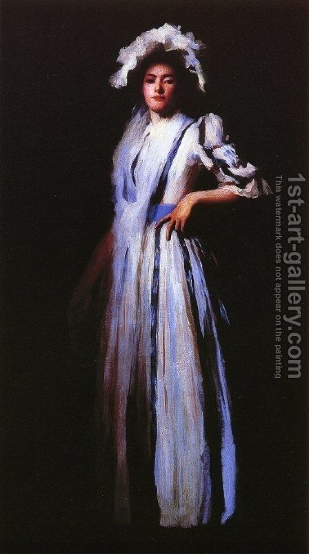 My Sister Lydia by Edmund Charles Tarbell - Reproduction Oil Painting