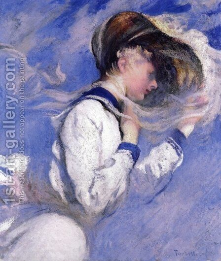 Summer Breeze by Edmund Charles Tarbell - Reproduction Oil Painting