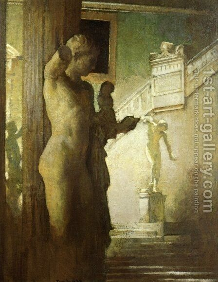 Interior of the Corcoran Gallery of Art by Edmund Charles Tarbell - Reproduction Oil Painting