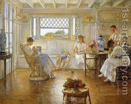 My Family by Edmund Charles Tarbell - Reproduction Oil Painting