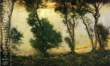 Piscatagua River from the Tabell Home by Edmund Charles Tarbell - Reproduction Oil Painting