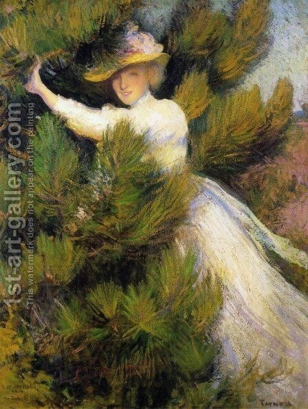 Summer Idyll by Edmund Charles Tarbell - Reproduction Oil Painting