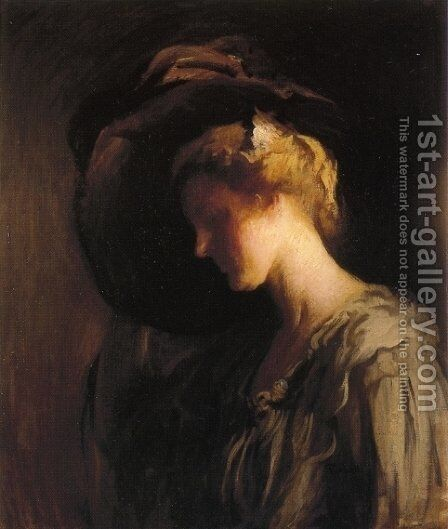 Adjusting the Hat by Edmund Charles Tarbell - Reproduction Oil Painting