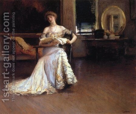 Quiet Afternoon by Edmund Charles Tarbell - Reproduction Oil Painting