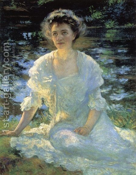 Eleanor Hyde by Edmund Charles Tarbell - Reproduction Oil Painting