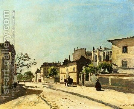 Rue Notre Dame, Paris by Johan Barthold Jongkind - Reproduction Oil Painting