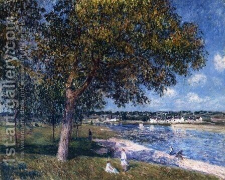 Walnut Tree in a Thomery Field by Alfred Sisley - Reproduction Oil Painting