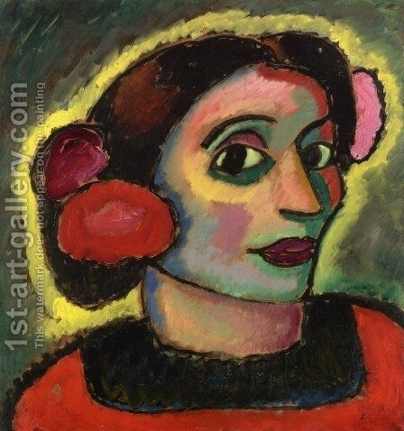 Spanish Woman by Alexei Jawlensky - Reproduction Oil Painting