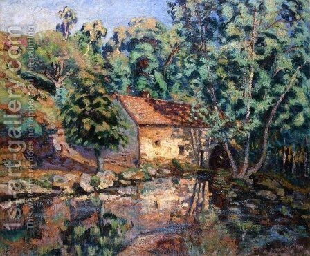 The Bouchardon Mill, Crozant I by Armand Guillaumin - Reproduction Oil Painting
