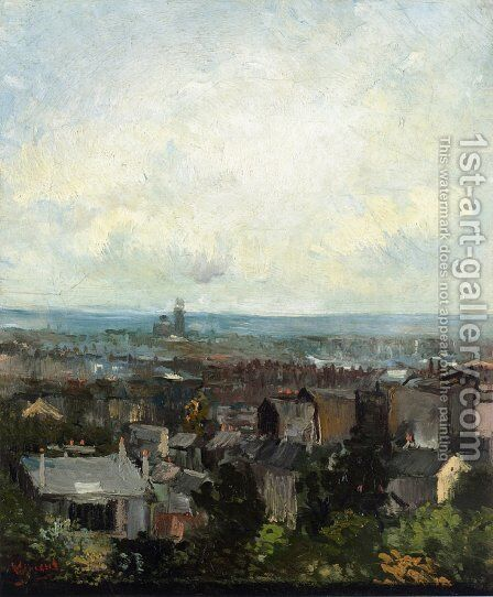 View of Paris from near Montmartre by Vincent Van Gogh - Reproduction Oil Painting