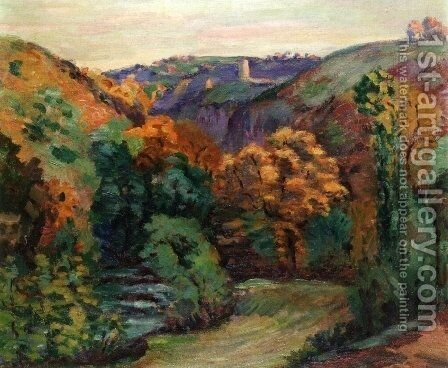 The Ruins of the Chateau at Crozant by Armand Guillaumin - Reproduction Oil Painting