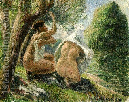 Bathers II by Camille Pissarro - Reproduction Oil Painting