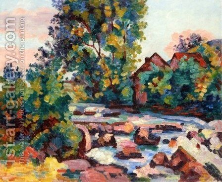 The Lock at Bouchardon by Armand Guillaumin - Reproduction Oil Painting