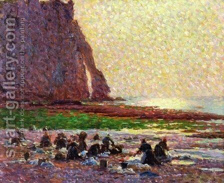 Laundresses by the Sea at Etretat by Claude Emile Schuffenecker - Reproduction Oil Painting