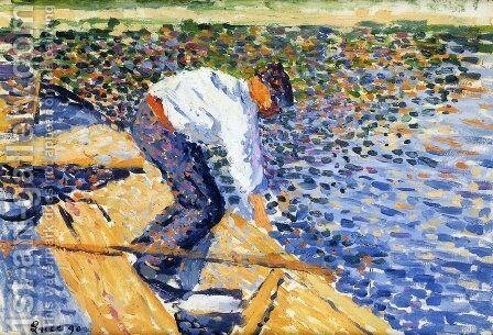 Le Pecheur de Vers de Vase by Maximilien Luce - Reproduction Oil Painting