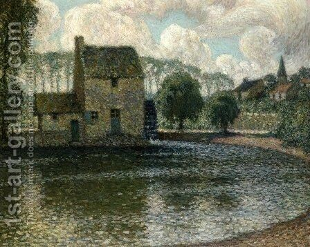 The Grey Mill, Montreuil-Bellay by Henri Eugene Augustin Le Sidaner - Reproduction Oil Painting