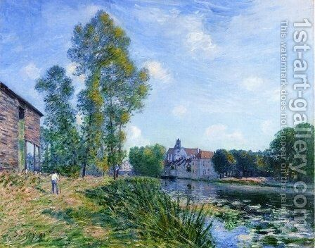 The Loing at Moret in Summer by Alfred Sisley - Reproduction Oil Painting