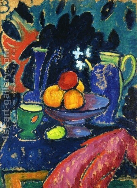 Still Life with Jug by Alexei Jawlensky - Reproduction Oil Painting