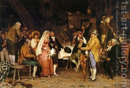 The Wedding Feast by Arturo Ricci - Reproduction Oil Painting