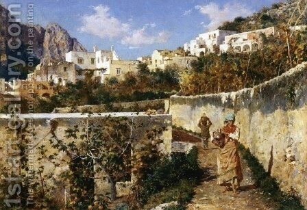 Capri by Augusto Lovatti - Reproduction Oil Painting