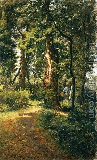 In the Woods by Adolfo Tommasi - Reproduction Oil Painting