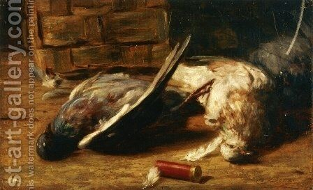 Still Life with Pigeons by Bartolomeo Bezzi - Reproduction Oil Painting
