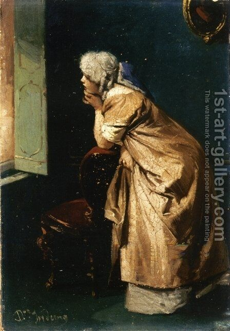 Anticipation by Domenico Induno - Reproduction Oil Painting