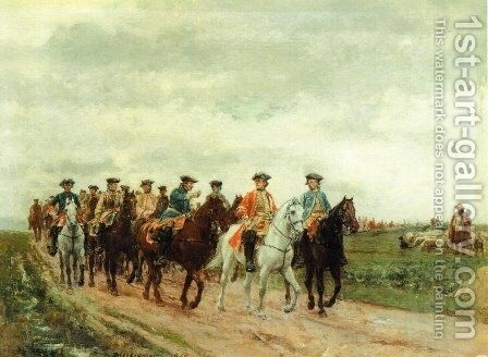 Maurice, Comte de Saxe Leading His Troops by Jean-Louis-Ernest Meissonier - Reproduction Oil Painting