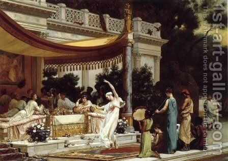 Pleasant Hours in the House of Lucullus by Gustave Clarence Rodolphe Boulanger - Reproduction Oil Painting