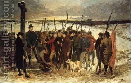 Le Guerre des Paysans (le Ressemblement) by Constantin Meunier - Reproduction Oil Painting