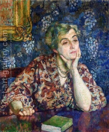 Maria van Rysselberghe in Jersey by Theo van Rysselberghe - Reproduction Oil Painting