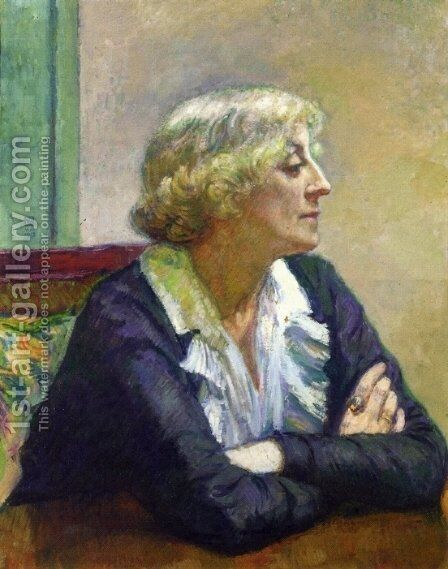Maria Van Rysselberghe with Crossed Arms by Theo van Rysselberghe - Reproduction Oil Painting