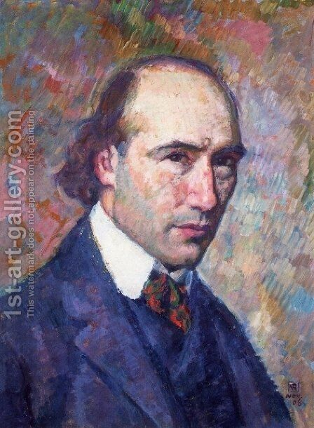 Portrait of Andre Gide by Theo van Rysselberghe - Reproduction Oil Painting