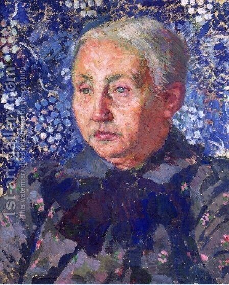 Portrait of Madame Monnon, the Artist's Mother-in-Law by Theo van Rysselberghe - Reproduction Oil Painting