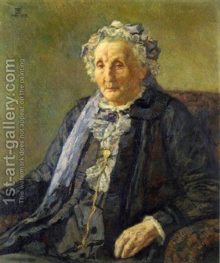 Portrait of Madame Monnon I by Theo van Rysselberghe - Reproduction Oil Painting
