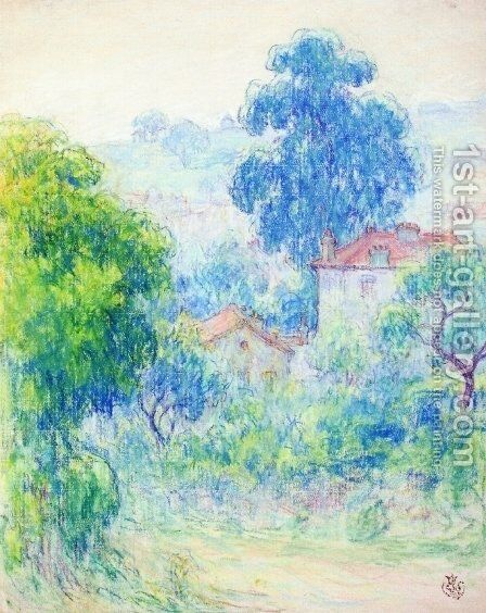 Houses in a Garden by Claude Emile Schuffenecker - Reproduction Oil Painting