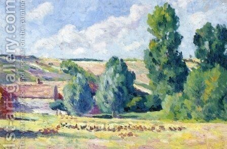 A Farm in Ezeaux by Maximilien Luce - Reproduction Oil Painting